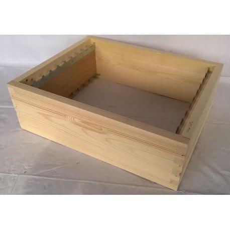 Hausse 10 cadres pour ruche Apivalais 10 cadres, construction à tenons, dimensions 43x53 cm