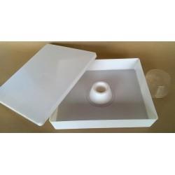 Nutritore 6 chili in plastica con bucco al centro