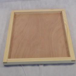 Couvre-cadres bois avec bordure, 42.5 x 50 cm