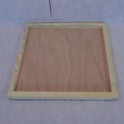 Couvre-cadres bois avec bordure 50 x 50 cm