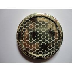 Couvercle pour pot à miel alvéoles et abeilles T63