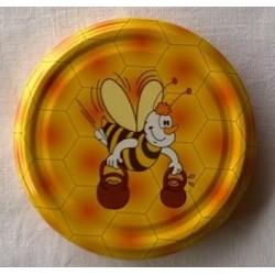 Couvercle de pot à miel abeille jaune T63
