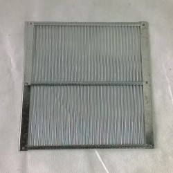 Escudiregina a griglia metalo per arniette Miniplus 232 x 252 mm