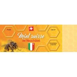 Etiquette pour miel de Neuchâtel