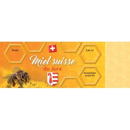 Etiquette pour miel du Jura