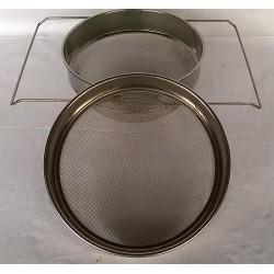 Tamis double en métal inox