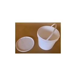 Latta secchiello en plastica alimentario 7 kg, con coperchio